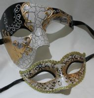 Gold & Black Couples Mask